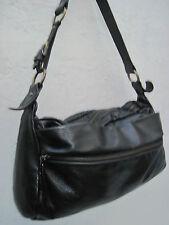 -AUTHENTIQUE sac à main XL  type besace  NICOLI cuir TBEG vintage bag A4