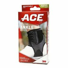Deluxe Ankle Brace Adjustable Wrap Support Universal Stabilizer Tek Zone Ace NEW