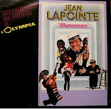 ++JEAN LAPOINTE showman LIVE OLYMPIA LP 1985 RARE VG++