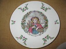 Royal Doulton Christmas Plate*1978*holly girl*Goodwill Peace 8.5""