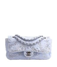 Chanel A49184 Blue Denim & Crystal Shoulder Bag