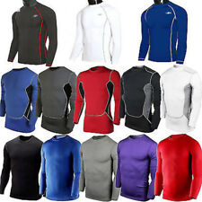 Mens Compression Armour Base Layer Top Long Sleeve Thermal Gym Sports T-Shirt US