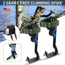 2pc Gears Tree Climbing Spike Safety Belt Adjustable Lanyard Rope Rescue Belt Us