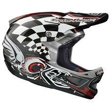 Troy Lee Designs TLD D3 Cycling MTB Helmet Finishline CP Black Grey Large LG