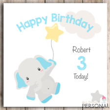 Personalised Birthday Card First 1st 2nd 3rd 4th Boy Son Nephew Grandson Brother