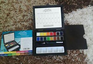 Sennelier La Petite Aquarelle Watercolour Half Pan Paint Wooden Box Travel Set