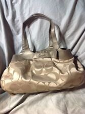 COACH SIGNATURE OPTIC LEXI KHAKI/COPPER SHOULDER BAG L1120-F18828