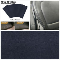 4 Pcs 10x20cm Litchi Stria Sheep Leather Car Seat Repair Patch & Vinyl Adhesive