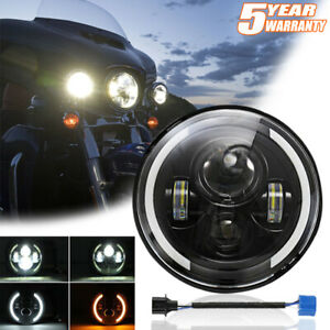 """7"""" inch 150W LED Headlight Projector Hi-Lo DRL for Harley-Davidson Electra Glide"""