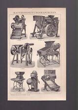Stampa tedesca primi '900 novecento,macchine per la lavorazione del caffè  R