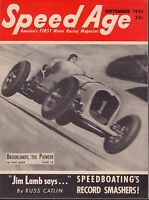 Speed Age Magazine September 1951 Brooklands Jim Lamb 080217nonjhe