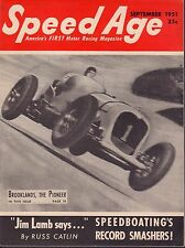 Speed Age Magazine September 1951 Brooklands Jim Lamb 080217nonjhe