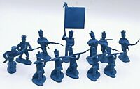 VINTAGE MARX POWDER BLUE  PLAYSET BLUE SOLDIERS Lot of 12 Reissue