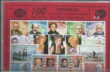Conjunto de 100 Sellos usados diferentes del tema: PERSONAJES.