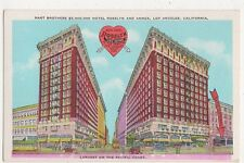USA, Hart Brothers Hotel Rosslyn & Annex, Los Angeles Cal. Postcard, B419