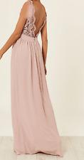 Abilinia Lace Maxi Bridesmaids Wedding Dress sleevless womens size 8  *REF57