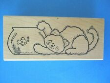 CAT & FISH BOWL Rubber Stamp DARCIE'S