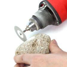 6Pc MINI DIAMOND CUTTING DISCS + SHANKS 40mm 20mm Dremel Rotary Tool Glass Metal