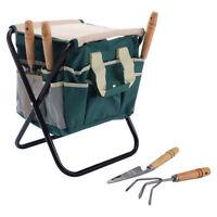 7 PCS Garden Tool Bag Set Folding Stool Tools Gardening Stainless Steel