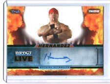 TNA Hernandez L46 2013 Impact Wrestling LIVE GREEN Autograph Card SN 23 of 50