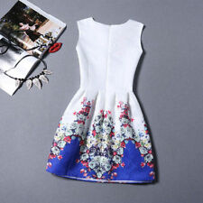 Nice Women Summer Fashion Casual Sleeveless Floral Mini Party Cocktail Dress -8