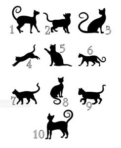 6 Cat (pet Lover) Vinyl Decal Sticker Silhouette Bauble Wine Glass Size
