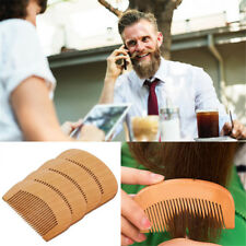 Styling Tool Beard Hair Comb Peach Wood Mustaches Brush Fine Coarse Teeth