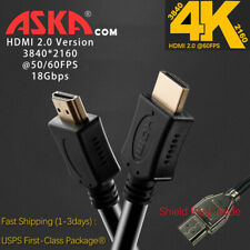 HDMI 2.0 Cable High Speed Ultra HD 4K @60FPS 18Gpbs Premium ROKU Laptop PS4