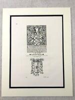 1867 Antique Print Italian Spanish Nobility Coat of Arms Crest Heraldry Heraldic