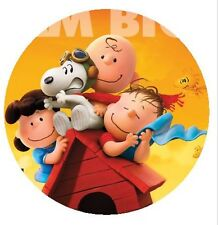 The Peanuts Movie - Snoopy - Round Edible Cake Topper 19cm - Can be Personalised