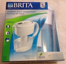 Brita Pitcher Water Filtration System Space Saver 6 Cup Filter Clean Tap Water