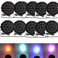 New 10X 18 RGB LED Stage Light Disco DJ Bar Effect UP Lighting Show DMX Strobe