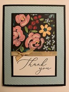 Stampin Up Flower & Field Thank You Card Kit