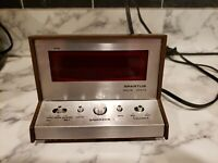 Vintage spartus alarm clock model 21-3004-500 tested and working rare model