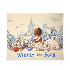 Disney Parks Epcot United Kingdom Winnie the Pooh Pals Classic Throw Blanket New