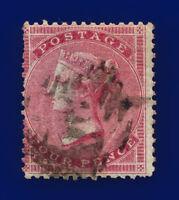 1855 SG62a 4d Carmine (Paper slightly blued) J47c Misperf London GU Cat£450 csqh