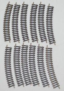 Minitrix 14912 gebogenes Gleis R 194,6mm 12 Stück Spur N gebraucht