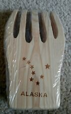 Wooden Bear Claws by Grand Alaska Salad Maker Tongs/ Forks 6 1/4 x 3 3/4