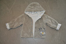 C&A Kuscheljacke Jacke Jungen Teddyplüsch Elch grau blau ☸ڿڰۣ-Gr. 86    BABYCLUB
