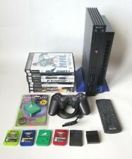 Sony Playstation 2 PS2 fat console with 1 controller 5 memory card 8 games extra