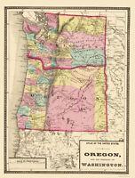 Oregon Washington - Baltimore 1873 - 23.00 x 30.30