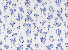 Blue Floral #1 Flannelette Fabric 108cm Wide (per metre)