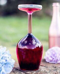 Giant Full Bottle Upside Down Wine Glass