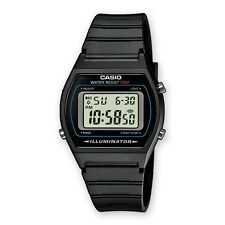 CASIO W-202-1AVEF*W-202-1A*ORIGINAL*2 Años Garantia*Sumergible*Retro*Negro*LED