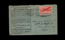 WWII Blue Envelope Mail APO 505 England Air Mail 1944 Cover & Letter 8q