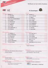 Opstellingen / Line-ups AZ Alkmaar v FC Groningen 06-05-2012