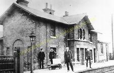 Sherburn in Elmet Railway Station Photo. Church Fenton - Monk Friston. (2)