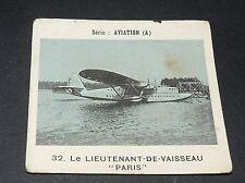 CHROMO PHOTO GLOBO 1937-1938 ALBUM AVIATION N°32 LIEUTENANT-DE-VAISSEAU PARIS