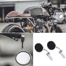 Coppia specchietti retrovisori laterali moto vintage cafe racer cromo