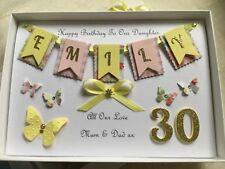 Handmade Personalised Boxed Card Birthday 16 18 21 30 40 50 60 Daughter Mum Wife